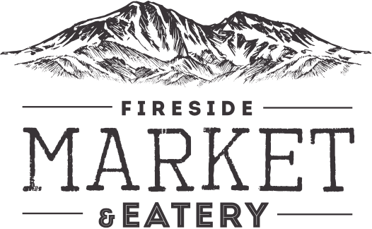 A theme logo of Fireside Market
